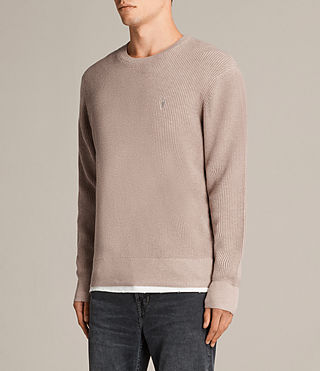 Men's Trias Crew Jumper (ROOT PINK MARL) - product_image_alt_text_3
