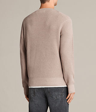 Men's Trias Crew Jumper (ROOT PINK MARL) - product_image_alt_text_4