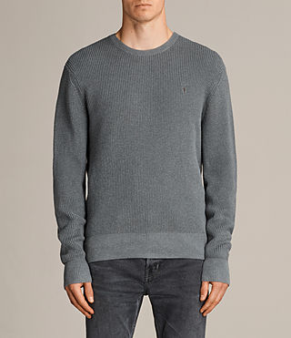 Men's Trias Crew Jumper (SMOKE BLUE MARL) - product_image_alt_text_1