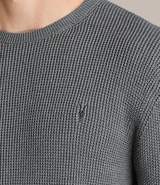 Men's Trias Crew Jumper (SMOKE BLUE MARL) - product_image_alt_text_2