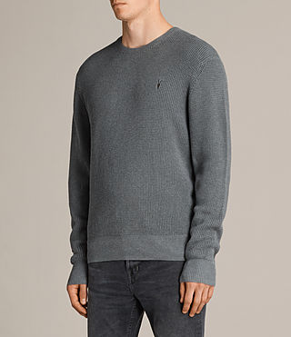 Men's Trias Crew Jumper (SMOKE BLUE MARL) - product_image_alt_text_3