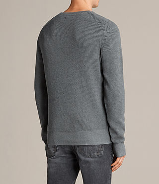Men's Trias Crew Jumper (SMOKE BLUE MARL) - product_image_alt_text_4