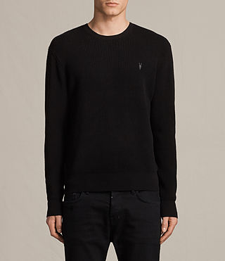 Mens Trias Crew Sweater (Black) - product_image_alt_text_1