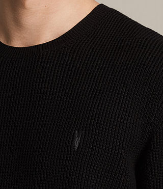 Men's Trias Crew Jumper (Black) - product_image_alt_text_2
