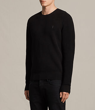 Men's Trias Crew Jumper (Black) - product_image_alt_text_3