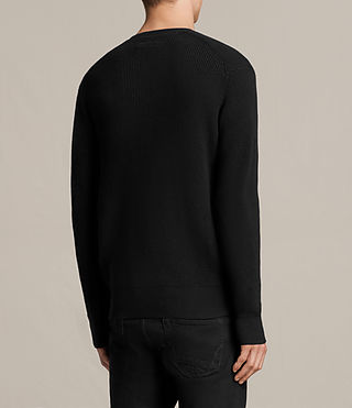 Men's Trias Crew Jumper (Black) - product_image_alt_text_4