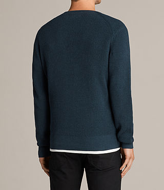 Men's Trias Crew Jumper (PETROL BLUE MARL) - Image 4