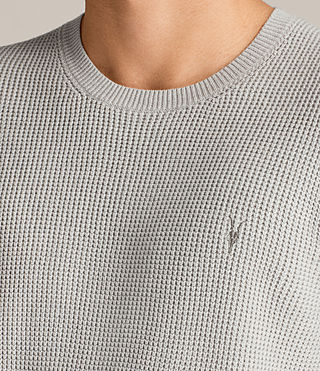 Mens Trias Crew Sweater (Light Grey Marl) - Image 2