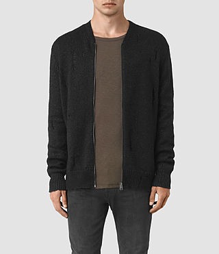 Hombre Aktarr Zip Sweater (Black) - product_image_alt_text_1