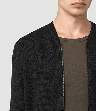 Hombre Aktarr Zip Sweater (Black) - product_image_alt_text_2