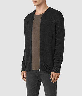 Hombre Aktarr Zip Sweater (Black) - product_image_alt_text_3