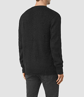 Hombre Aktarr Zip Sweater (Black) - product_image_alt_text_4