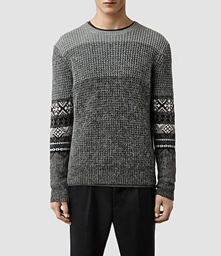 Mens Mikasa Crew Sweater (Charcoal Marl)