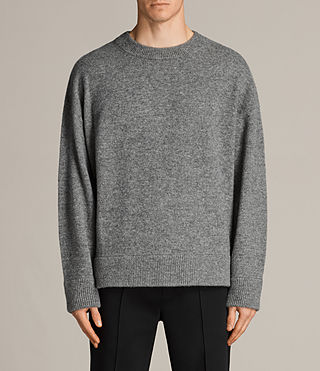 Mens Loften Crew Sweater (Grey Marl) - Image 1
