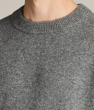 Mens Loften Crew Sweater (Grey Marl) - Image 2