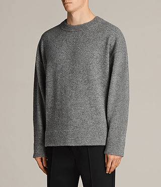 Mens Loften Crew Sweater (Grey Marl) - Image 3