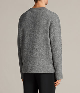 Mens Loften Crew Sweater (Grey Marl) - Image 4