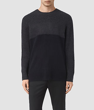 Mens Kelm Crew Sweater (InkNavy/CindBlkMrl) - product_image_alt_text_1