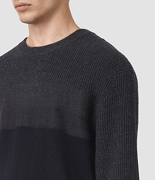 Mens Kelm Crew Sweater (InkNavy/CindBlkMrl) - product_image_alt_text_2