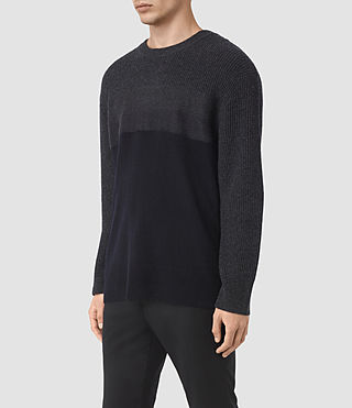 Mens Kelm Crew Sweater (InkNavy/CindBlkMrl) - product_image_alt_text_3