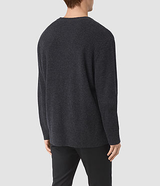 Mens Kelm Crew Sweater (InkNavy/CindBlkMrl) - product_image_alt_text_4