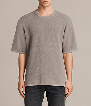 Uomo Trias Short Sleeve Crew Jumper (PUTTY GREY MARL) -