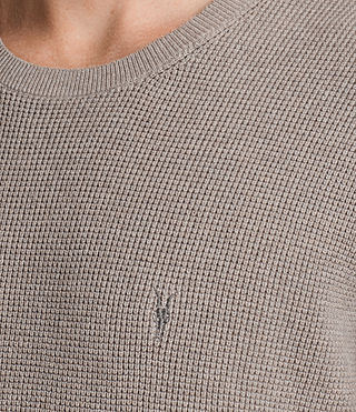 Uomo Trias Short Sleeve Crew Jumper (PUTTY GREY MARL) - product_image_alt_text_2