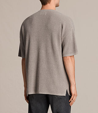 Uomo Trias Short Sleeve Crew Jumper (PUTTY GREY MARL) - product_image_alt_text_4