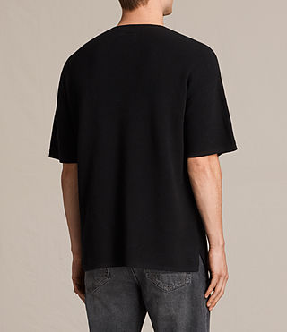 Hombres Trias Short Sleeve Crew Jumper (Black) - product_image_alt_text_4