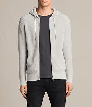 Herren Trias Hoody (Light Grey Marl) -