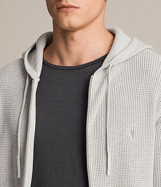 Hombres Sudadera con capucha Trias (Light Grey Marl) - product_image_alt_text_2