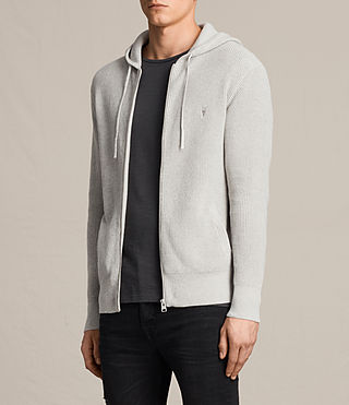 Hombres Sudadera con capucha Trias (Light Grey Marl) - product_image_alt_text_3