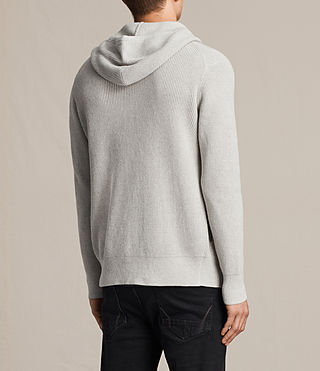 Hombres Sudadera con capucha Trias (Light Grey Marl) - product_image_alt_text_4