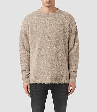 Hombre Hannent Crew (Taupe Marl)
