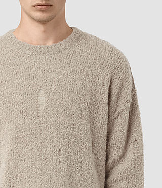 Mens Hannent Crew Sweater (Taupe Marl) - product_image_alt_text_2