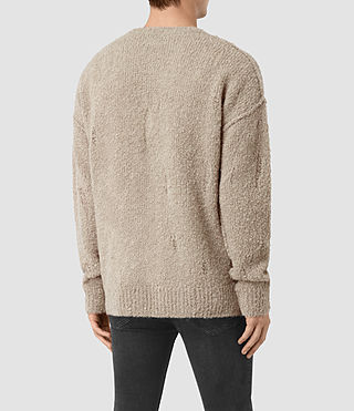 Mens Hannent Crew Sweater (Taupe Marl) - product_image_alt_text_4