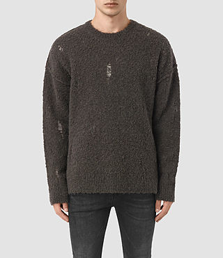Mens Hannent Crew Sweater (Khaki Brown)