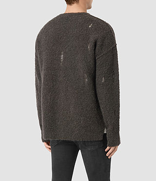 Mens Hannent Crew Sweater (Khaki Brown) - product_image_alt_text_3