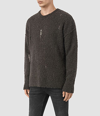 Mens Hannent Crew Sweater (Khaki Brown) - product_image_alt_text_4