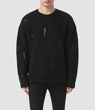 Mens Hannent Crew Sweater (Black)