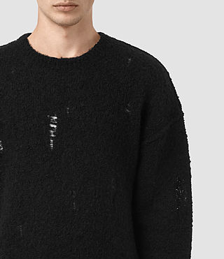 Hombre Hannent Crew Sweater (Black) - product_image_alt_text_4