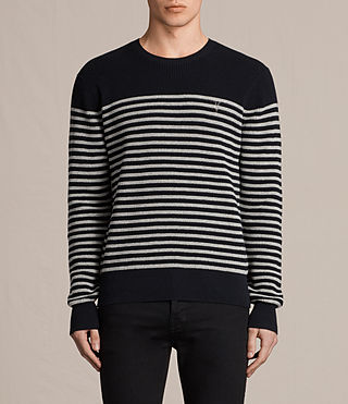 Herren Trias Breton Crew Jumper (INK NAVY) -