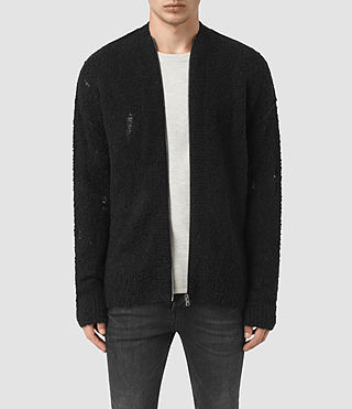 Mens Hannent Cardigan (Black) - product_image_alt_text_1