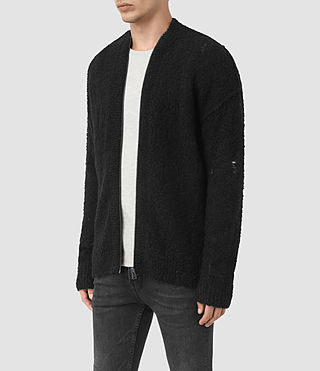 Uomo Hannent Cardigan (Black) - product_image_alt_text_3
