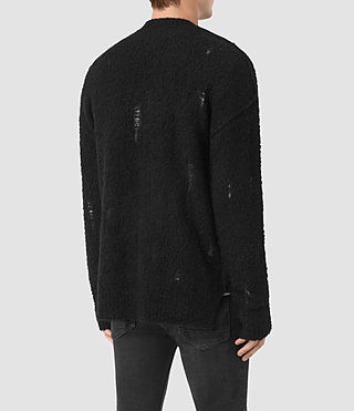 Uomo Hannent Cardigan (Black) - product_image_alt_text_4