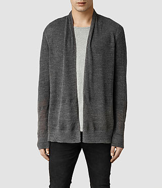 Mens Dyle Cardigan (Charcoal Marl)