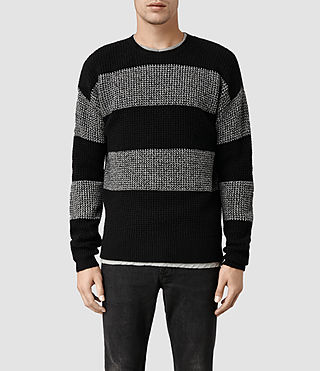 Mens Seattle Crew Jumper (Blk/Lt Grey Mrl)