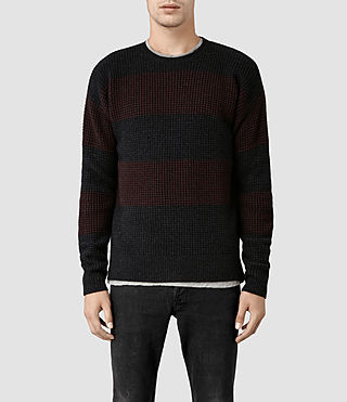 Mens Seattle Crew Sweater (Cinder/Burnt Red)