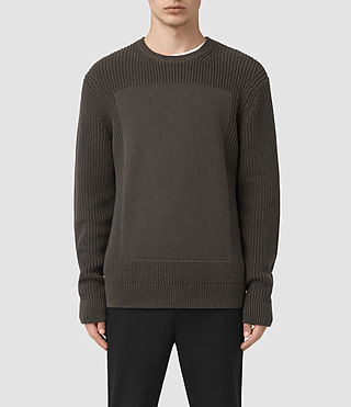 Mens Marsk Crew Sweater (Khaki Brown)