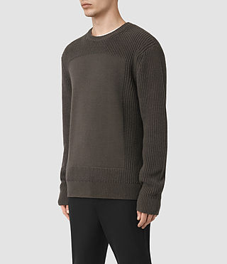 Mens Marsk Crew Sweater (Khaki Brown) - product_image_alt_text_3